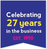 Celebrating 27 Years in the business - Est. 1990